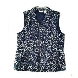 Chico's Leopard print sporty vest jacket, sz 3